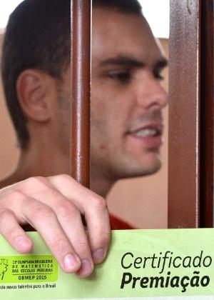 Diego Henrique da Silva Alves, preso em Formiga (MG), recebeu medalha de bronze - Divulgação