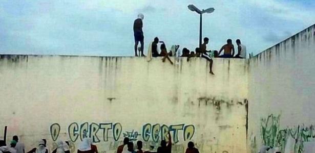 Presos fizeram rebelião na Penitenciária de Alcaçuz, maior presídio do RN