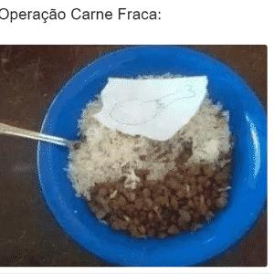 Memes da Operação Carne Fraca: papel no prato - Reprodução/Twitter