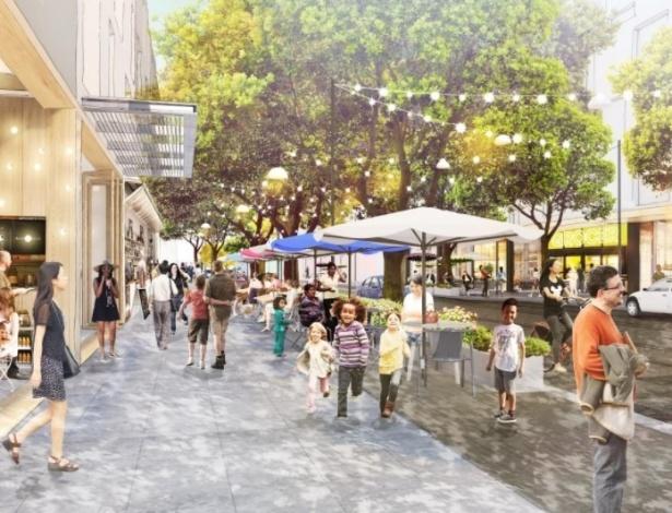 """Projeto da vila do Facebook """"Willow Campus"""" que será construída próxima a sua sede em Menlo Park, na Califórnia"""