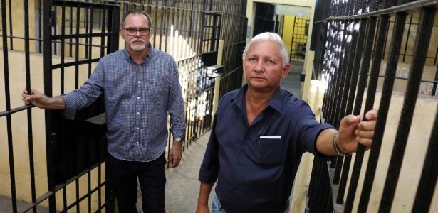 O advogado e pesquisador Waldir Porfírio e o jornalista Cristiano Machado