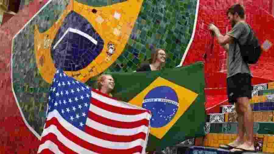Americanos são o segundo maior grupo de turistas que visitam o Brasil anualmente, atrás dos argentinos - Reuters