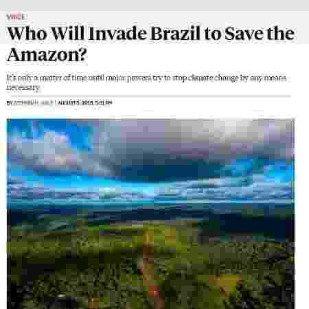 Artigo da revista Foreign Policy sobre a invasão da Amazônia - Reprodução