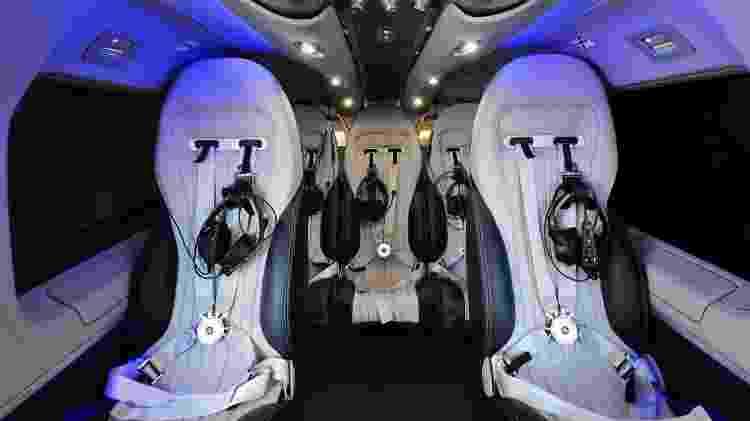 Interior do H145 executivo tem detalhes personalizados em parceria com a Mercedes-Benz - Marcus Schlaf/Airbus Corporate Helicopters