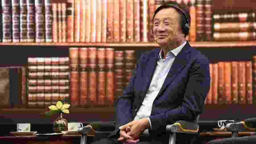 O fundador e CEO da Huawei Ren Zhengfei, na sede da companhia em Shenzhen (China) - Xinhua/Liang Xu