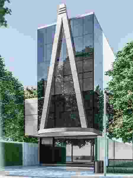 Projeto do Pet Perpetum, um cinerário vertical para pets, que deve ficar em frente ao cemitério vertical (para humanos) - Divulgação