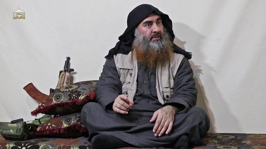 Abu Bakr al-Baghdadi, líder do Estado Islâmico, aparece em vídeo divulgado pelo grupo terrorista - AFP - 29.abr.2019