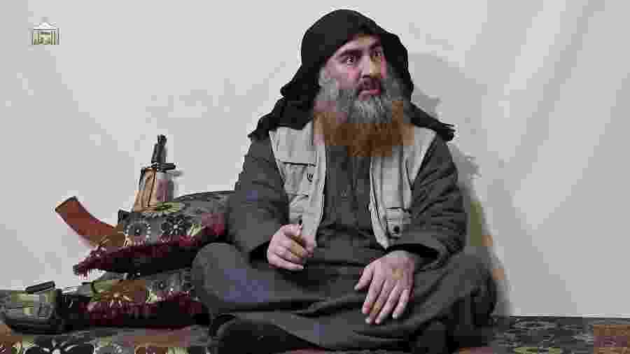 29.abr.2019 - Abu Bakr al-Baghdadi, líder do EI (Estado Islâmico) e um dos terroristas mais procurados do mundo - AFP