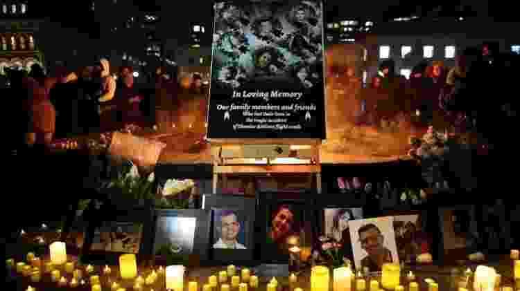 Vígilia em homenagens a vítimas realizada na cidade canadense de Ottawa - Getty Images