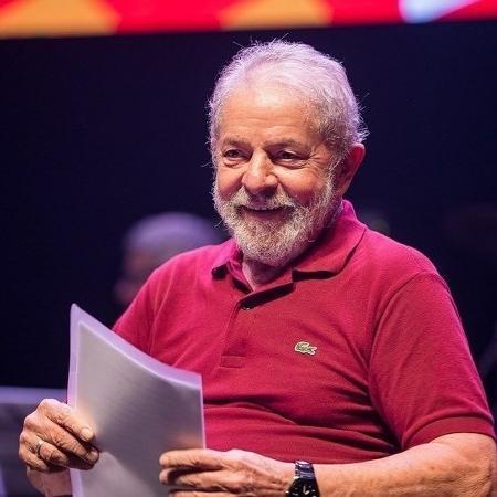 8.fev.2020 - O ex-presidente Luiz Inácio Lula da Silva em evento de comemoração pelos 40 anos do PT, no Rio de Janeiro - Divulgação
