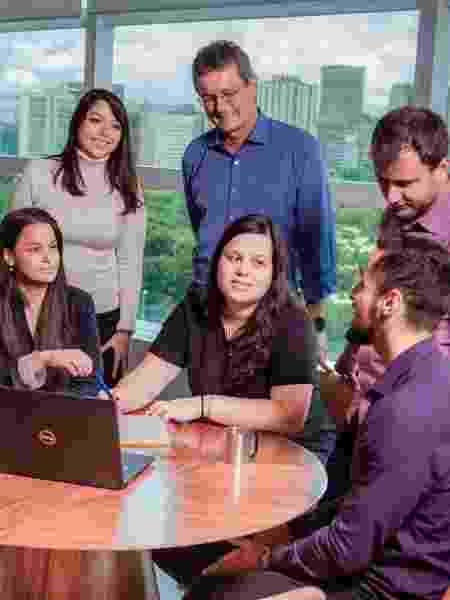 Funcionários no escritório central da Gerdau, em São Paulo - Ricardo Teles/Gerdau - Ricardo Teles/Gerdau