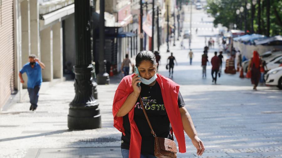 Comércio fechado no centro de São Paulo - Nelson Antoine/Estadão Conteúdo
