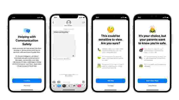 Imagens sensíveis no iMessage - Divulgação/ Apple - Divulgação/ Apple