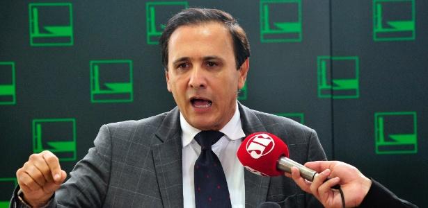 Entrevista coletiva com o deputado Carlos Henrique Gaguim (PTN-TO) sobre sua candidatura à presidência da Câmara dos Deputados