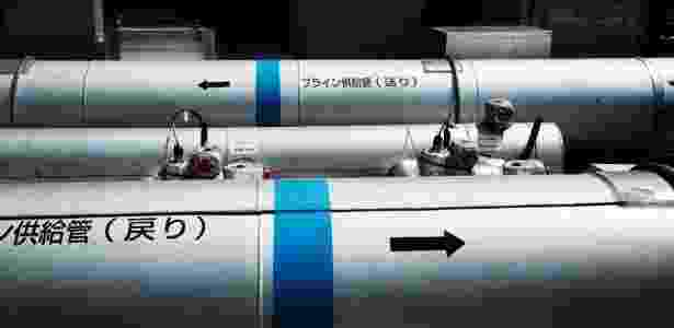 8.jun.2016 - Tubos contendo líquidos refrigerantes na usina nuclear de Fukushima Daiichi, no Japão - Ko Sasaki/The New York Times - Ko Sasaki/The New York Times