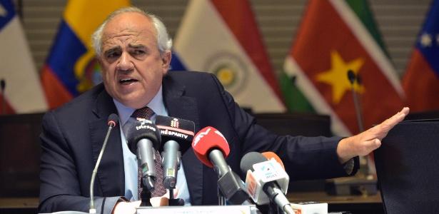 O ex-presidente da Colômbia e atual secretário-geral da Unasul, Ernesto Samper