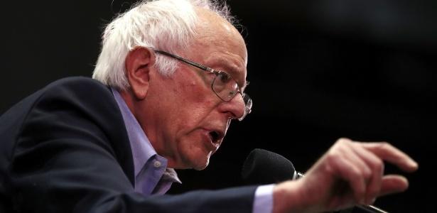 20.mai.2017 - O senador Bernie Sanders fala durante campanha do candidato democrata Rob Quist para o Congresso americano, em Montana
