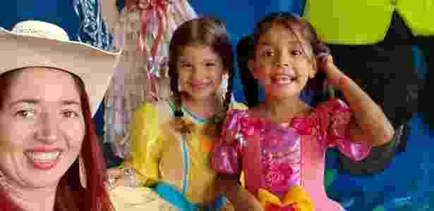 Menina Júlia, de vestido rosa, foi morta a tiros dentro da casa da avó em Goiânia - Arquivo Pessoal/Polyana de Freitas - Arquivo Pessoal/Polyana de Freitas