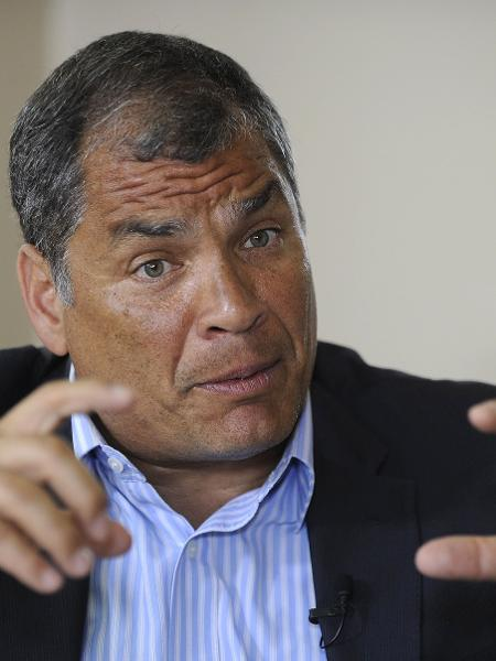 19.jan.2018 - Rafael Correa, ex-presidente do Equador - Camila Buendia/AFP
