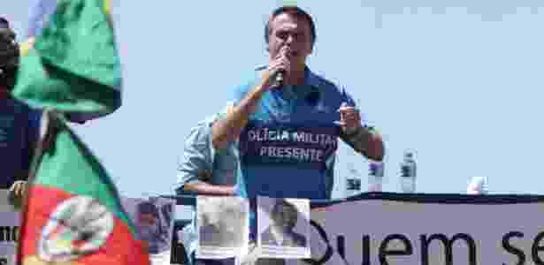 Jair Bolsonaro, deputado federal e pré-candidato à Presidência pelo PSL, participa de ato no Rio de Janeiro - José Lucena/Futura Press/Estadão Conteúdo - José Lucena/Futura Press/Estadão Conteúdo