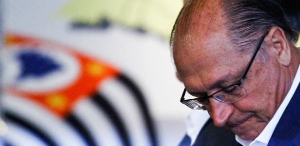 2.abr.2018 - O governador do Estado de São Paulo, Geraldo Alckmin (PSDB), durante evento