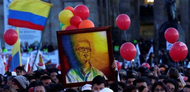 O candidato Gustavo Petro é simpatizante declarado do chavismo  - Henry Romero/Reuters