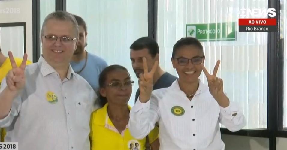 Candidata Marina Silva, da Rede, vota em Rio Branco