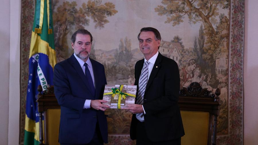 7.nov.2018 - Jair Bolsonaro (PSL) durante audiência com o presidente do STF, ministro Dias Toffoli - Pedro Ladeira/Folhapress,