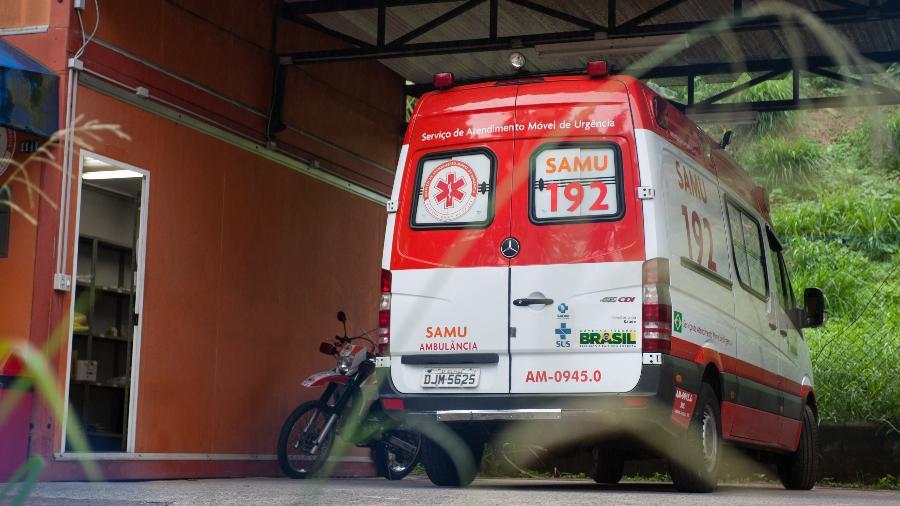 20.nov.2017 - Fachada da base do Samu, no Jardim Angela, zona sul - Alexandre Moreira/Folhapress