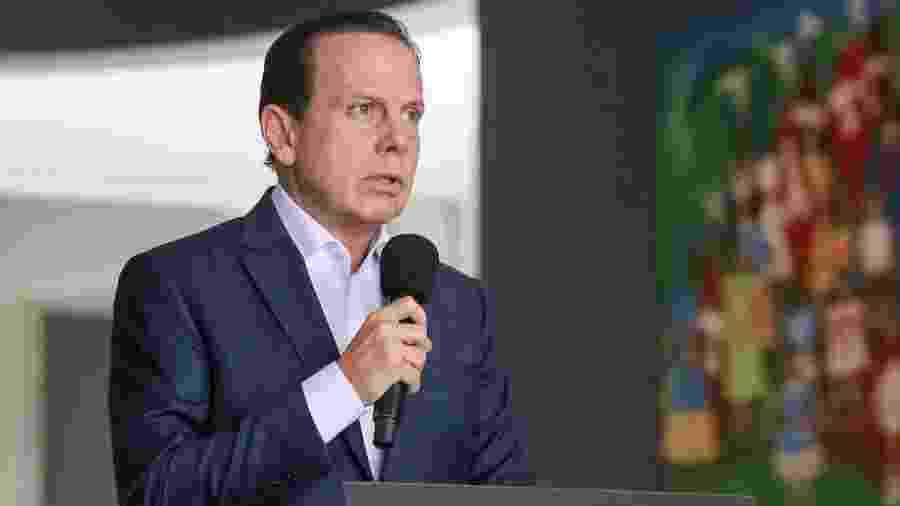 O governador de São Paulo, João Doria (PSDB-SP), durante coletiva de imprensa sobre o coronavírus - Divulgação/Governo de São Paulo