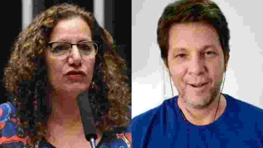 Jandira Feghali e Mario Frias - Divulgação