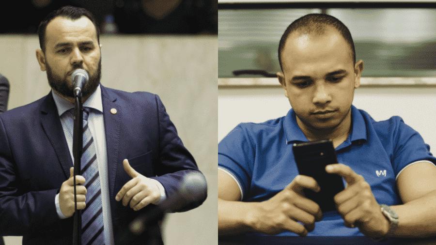 Os deputados estaduais Gil Diniz e Douglas Garcia, expulsos do PSL de São Paulo - Montagem/UOL