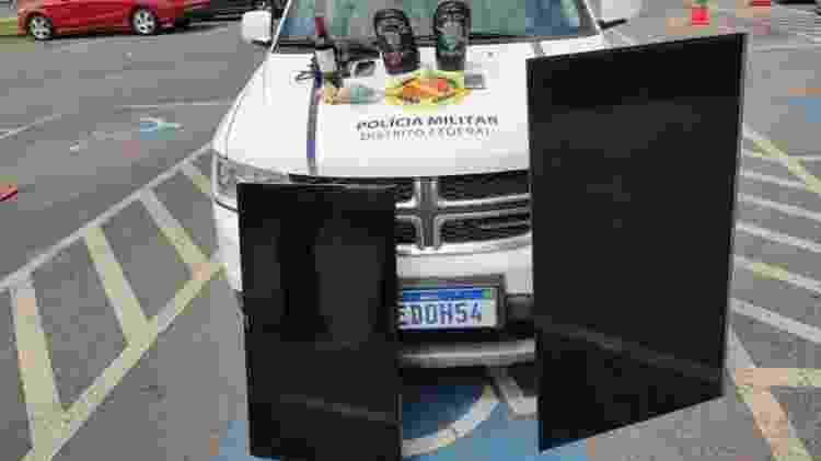 A Polícia Militar deteve dois casais em Ceilândia, no Distrito Federal, por furtarem aparelhos eletrônicos em motel - Reprodução/Polícia Militar do Distrito Federal  - Reprodução/Polícia Militar do Distrito Federal