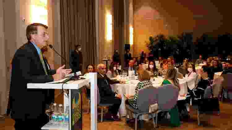 Bolsonaro discursa em evento com empresárias - Alan Santos - Alan Santos