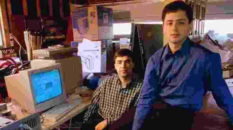 Fundadores do Google Larry Page e Sergey Brin  - Google - Google