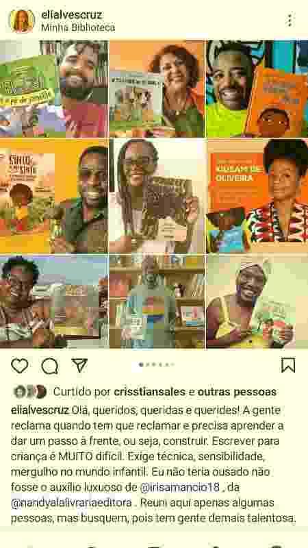 Eliana Alves Cruz lista autores negros da literatura infantil - reprodução / Instagram - reprodução / Instagram