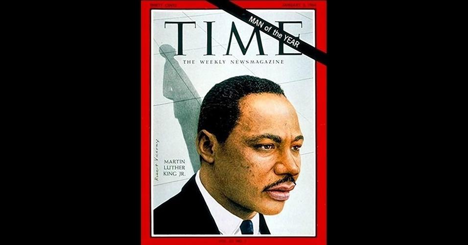 """Martin Luther King (1963) - O ativista pelos direitos civis e igualdade racial concedeu naquele ano seu famoso discurso """"Eu tenho um sonho"""", que influenciou todos os Estados Unidos pelo fim da segregação de negros no Sul do país. Cinco anos depois, Luther King seria assassinado em um hotel em Memphis"""
