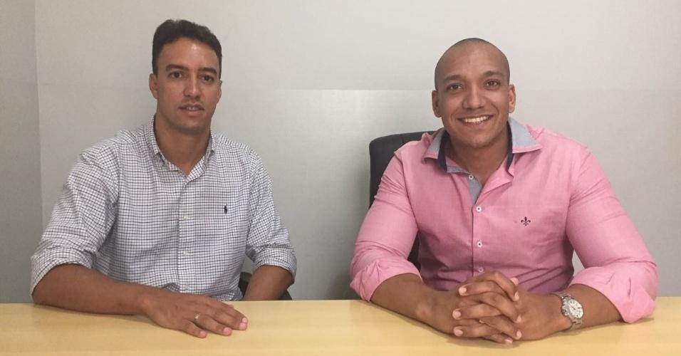 Rubens Melo (à esq.) e Leonardo Guilherme são sócios da Gamific, start-up de Uberlândia (MG)