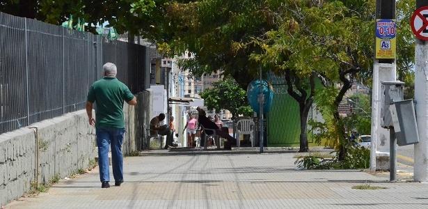 """Centro de Natal ficou """"deserto"""" em janeiro, durante a crise de segurança pública que atingiu a região metropolitana - Beto Macário/UOL"""