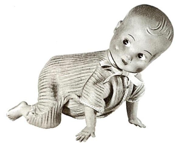 A boneca Bebê Gatinhando da Estrela foi lançada entre 1969 e 1970