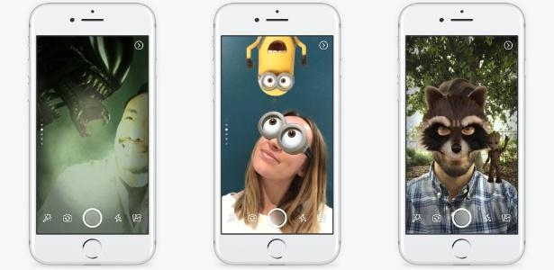 Nova câmera do Facebook permite o uso de máscaras e filtros
