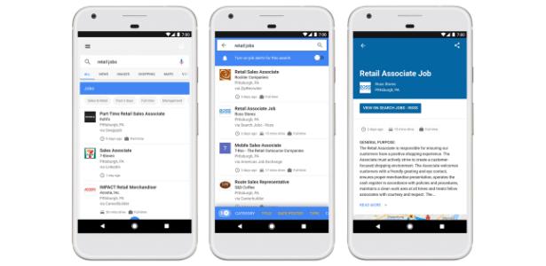 Google lança busca especial para empregos nos EUA