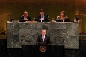 Autores de estudo citado na ONU desmentem Temer sobre queda no desmatamento da Amazônia (Foto: Beto Barata/Presidência da República)