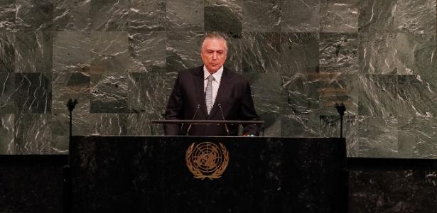 19.set.2017 - Presidente Michel Temer discursa na abertura do Debate Geral da 72ª Sessão da Assembleia Geral da ONU