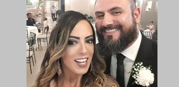 O promotor Marcus Vinícius da Costa e a mulher dele, Luciana Alves
