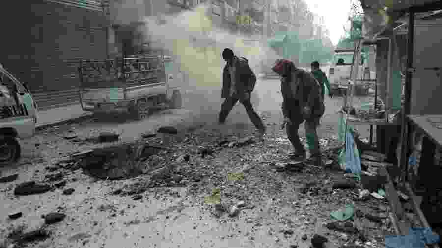 O presidente da Turquia, Recep Tayyip Erdogan, advertiu sobre a iminência de uma operação do exército do país em Idlib - Hamza al-Ajweh/AFP
