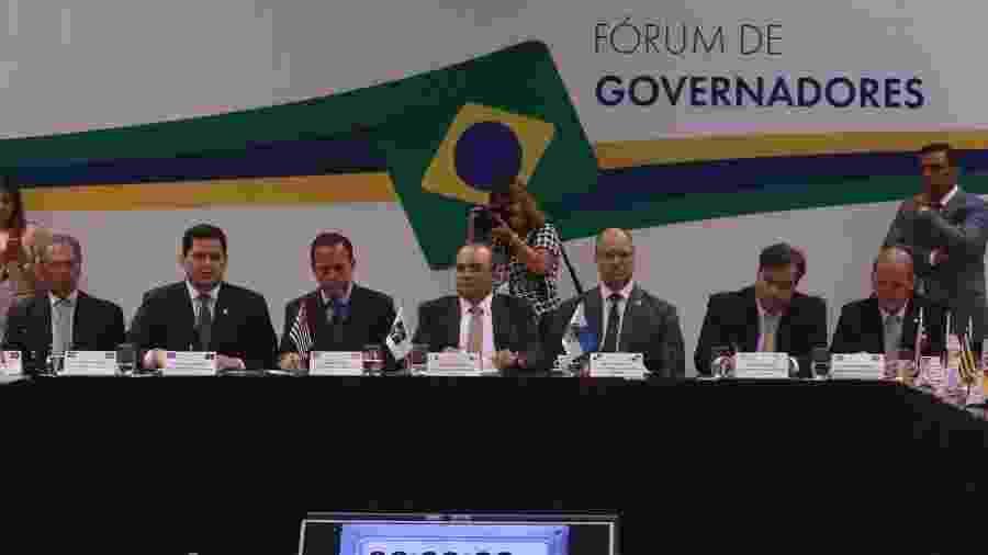 20.02.2019 - O ministro da Economia, Paulo Guedes, participa da reunião do Fórum de Governadores, no Centro Internacional de Convenções do Brasil (CICB) - Antonio Cruz/Agência Brasil