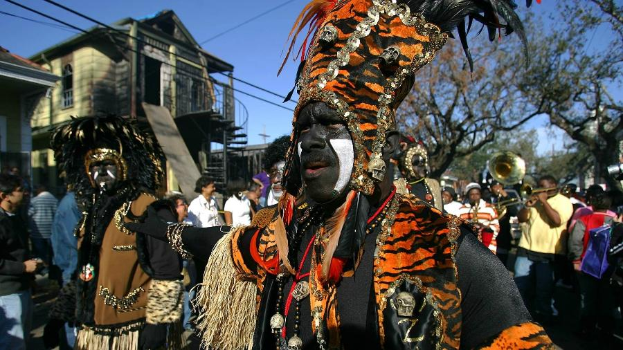 28.fev.2006 - O Desfile Zulu passa por Nova Orleans no Mardi Gras - Chang W. Lee/The New York Times