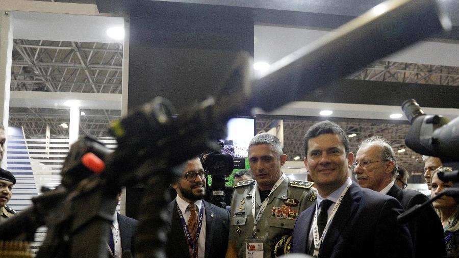 2.abr.2019 - O ministro da justiça, Sergio Moro, em evento de segurança no Rio de Janeiro - Reuters