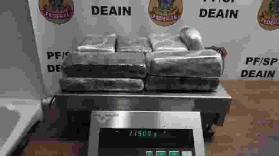 As investigações se iniciaram a partir da prisão de pessoas cooptadas para transportar as drogas - Divulgação/PF